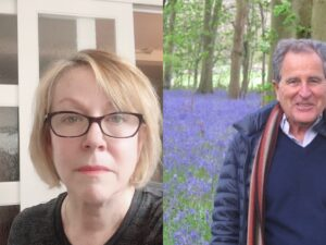 Headshot of Carol Martin and Nicolas Kent